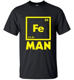 men pp clothing NZ - 2020 funny FE MAN Iron Science Chemistry streetwear T-Shirt men t shirts tops tees top brand slim clothing pp Sports