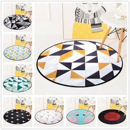 european chairs UK - European Geometric Round Carpet For Living Room Children Bedroom Rugs And Carpets Computer Chair Floor Mat Cloakroom Carpet Aladdin Ca ot0H#