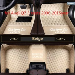 seat floor mats UK - Tailor made car floor mat waterproof PU leather material, suitable for Audi Q7 5 seats 2006-2015year