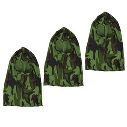jungle caps Canada - 3pcs Breathable Headgear Riding Face Scarf Face Hanging Ear Scarf Dustproof Sun Block Cover for Outdoor Riding (Jungle Camo