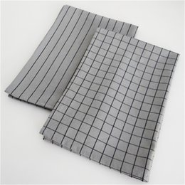 print tablecloths wholesale UK - Nordic style household table napkin table mat food background photo grid tablecloth grey cotton kitchen table