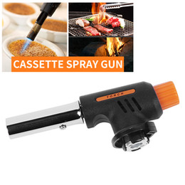 one piece car accessories UK - Gas Torch Flamethrower Butane Burner Automatic Ignition Baking Welding BBQ Camping Outdoor Hiking Fire Flame Gun