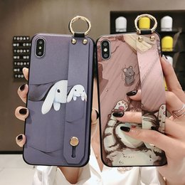 cute rabbit phone holder Australia - Promax Cute Cat Rabbit Wrist Strap TPU Case For iPhone 11 Pro 8 6 SE2 7+ XR X XS Max Phone Holder Cover