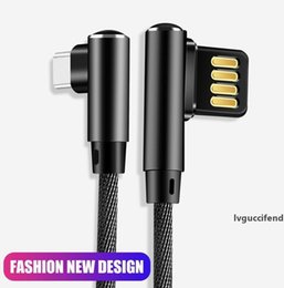 tablet 3a NZ - 90 Degree Charge Micro USB Cable Fast Charging Cord Data Charger 3A for Samsung Cable USB for Xiaomi Tablet Type C Usb C Charging Cable