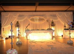 backdrops swags Canada - Wedding 3mx6m backdrop stage background with Beatiful Swag Wedding drape and curtain Mariage decoration