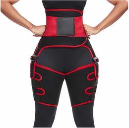 Wholesale compressed pants resale online – 3 in Women Hot Sweat Slim Thigh Trimmer Leg Shapers Push Up Waist Trainer Pants Fat Burn Neoprene Heat Compress Slimming belt