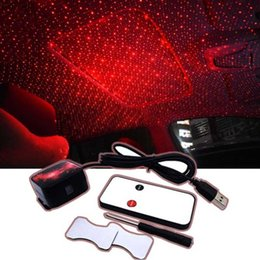 door projector lights for cars UK - USB LED Car Decorative Lamp Star Starry Night Roof Light Projector For 3008 4008 5008 508 408 406 407 507 307 308 206