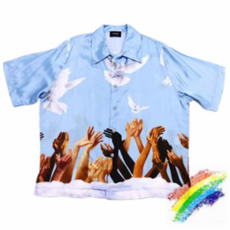 Wholesale blue collar resale online – Blue Shirt Men Women High Quality Fashion Top Tees Shirts