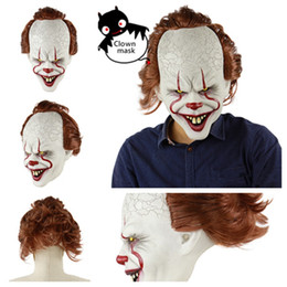 clown film UK - new Silicone Movie Stephen Clown Joker Mask Full Face mask Horror Latex Clown Mask Halloween masks Party masks T2I51242