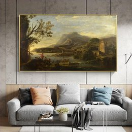 ancient paintings art 2021 - Famous painting Ancient old world art Canvas painting Posters and Prints Wall Art for Living Room Home Decor (No Frame)