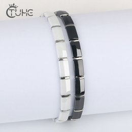 fashion wristbands bracelets Canada - 2019 New Health Energy Fashion Black Ceramic Bracelets Bangles Unisex Wristband Luxury Jewelry Friendship Gifts for Women CX200724