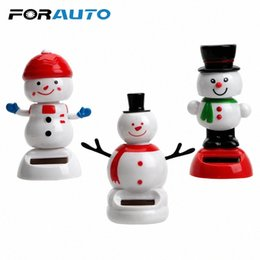 dance christmas ornament UK - Car Ornament Cute Swinging Bobble Doll Solar Powered Dancing Toy Christmas Snowman Dashboard Decoration Interior Accessories All Car A f4ZW#