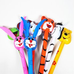 inflatable sticks NZ - PVC Inflatable Toy toy children's inflatable toys animal head long stick ordinary 15 mixed batch push gifts