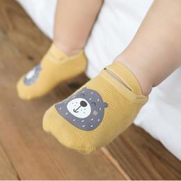 Wholesale non elastic socks for sale – custom Spring and Autumn New Baby Room Socks Cartoon Printing Glue Baby firstwalker Children s Non Slip Toddler Shoes Socks