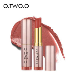ruby red matte lipstick NZ - O.TWO.O Matte Nude Makeup Lipstick Sexy Red Velvet Ruby Rose Lip Stick Long Lasting Nutritious Lip Tint 120pcs lot DHL