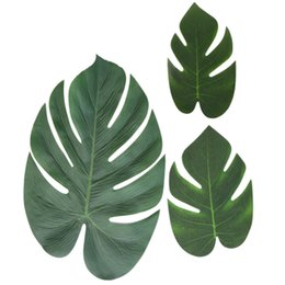 beach birthday decorations NZ - 90 Pcs Artificial Leaves Luau Party Decoration Monstera Fake Large Green Leaf for Hawaiian Decorations Jungle Beach Birthday The