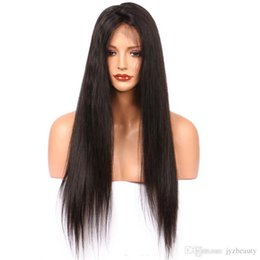 natural hairline full lace wigs Canada - JYZ Brazilian Silky Straight Lace Front Human Hair Wigs For Black Woman 130 Density Glueless Full Lace Wigs with Baby Hair Natural Hairline