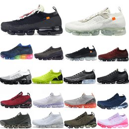 Wholesale women knit top for sale - Group buy Top Knit Running Shoes Fly Mens Sneakers Shoes POP UP Gold Women Flats Designer Trainers With Box
