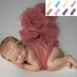 wool blankets wholesale NZ - Newborn Baby Boys Girls Wrap Infant Photography Photo Prop Blanket Rug Backdrop L41D 7wFi#