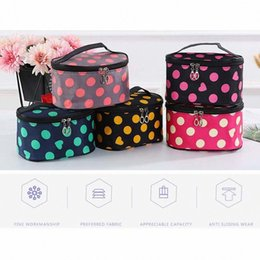 big makeup bags NZ - Women Cosmetic Bag Dot Printed Makeup Pack Portable Travel Big Capacity Zip Toiletries Storage Organizer Toiletry Wash Bags kyf5#
