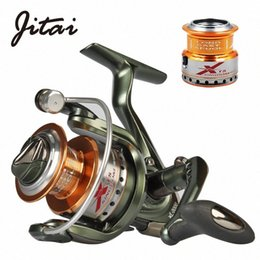 gear spin NZ - JITAI Spinning Fishing Reel with Free Spare Metal Spool 5.2:1 Gear Ratio 9+1BB Saltwater Wheel Carp Fishing Reels AVOL#