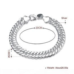 chain whips Canada - S Diamond Ring Luxury Top Quality Classy 10mm Charm Whip Rope Silver Bangles For Women Men Fashion Unisex Jewelry H102