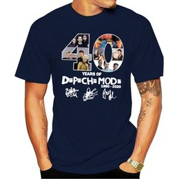 depeche mode t shirts UK - 40 Years Of Depeche 1980 2020 Mode T Shirt Black Cotton Men S-3XL US Supplier