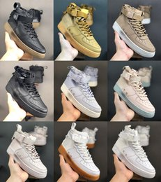 women s high top athletic shoes Australia - s Special Field SF Forces Mid High Top Shoes Air Sneakers Utility 1 One Skate Boots af1s For Kids Men Women Athletic Trainers