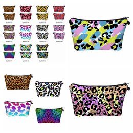 leopard tools Australia - 3D Leopard Printed Cosmetic Bag Travel Portable Digital Printing Makeup Handbag Purse Storage Bags Organizer Travel Pouch Wash Bags RRA3393