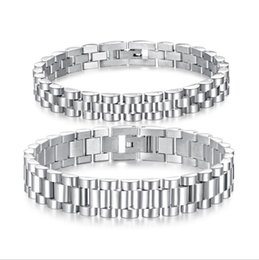 watch band sets UK - Simple personality titanium steel lovers Bracelet Watch Chain Watch band type men and women's hand jewelry