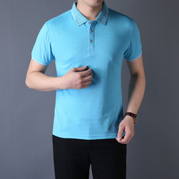 breathable sport polo shirt UK - 2020 crime designer embroidery quality comfortable breathable polo shirt 100% cotton summer sports leisure mens polo shirt