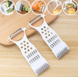 peeler kitchen tools 2020 - 5 in 1 Plastic Vegetable Fruit Slicers Cutter Stainless Steel Blades Multi-function ABS Peeler Grater Slicer Kitchen Fru