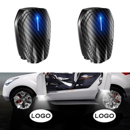 car wireless led shadow UK - 2pcs Universal Wireless Car Door Light Decor Shadow LED Welcome Laser Projector Lamp Car Interior Light Accessories Ornament