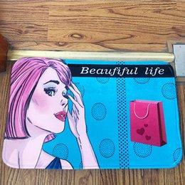 Опт 1 шт 40x60 см нескользящий коврик ковер Sup ванна инструменты ванная комната кухня ванная комната от двери до двери Shoesmat многоцветный фланель замша