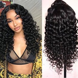 human hair brazilian loose curly Australia - 360 Lace Frontal Wig Loose Curly Human Hair Wig Pre Plucked With Baby Hair 13x6 Lace Front Wigs For Black Women Brazilian Remy