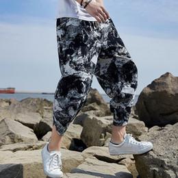 Wholesale summer linen trousers women for sale – dress Mens Summer Linen Harem Pants Hip Hop Women Plus Size Wide Leg Cotton Trousers Casual Vintage Cotton Pants