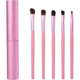 Makeup brush set 5 pcs set of eyeliner eyebrow brush eye shadow and blush mixed brush with box