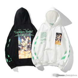 Wholesale hoodies off white resale online - The Summer Designer Mens Hoodies Off Black Whiter Rap Printed Hoodie Unisex Women Hooded Casual Harajuku Pullovers