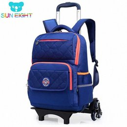 kids backpacks wheels Australia - Wheeled Bag Kid Luggage 6 Wheels To Climb Stairs School Backpack SUN EIGHT Wheeled Backpack For Girls Boy Trolley School Bags Kids Bac o7X6#