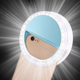 RK12 Selfie Led Ring Light Portable Mobile Selfie Lamp for Iphone Clip Lampe Selfi Telephone Lampa Na Telefon Lens Photography