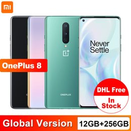 """Wholesale Global Version OnePlus 8 5G Mobile Phone 12GB 256GB Snapdragon 865 Octa Core 48MP Triple Camera 6.55"""" Screen 30W Charger NFC"""