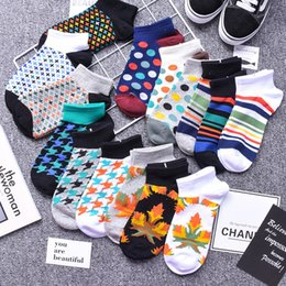 wholesale hip hop socks UK - Thin cotton men's all-match Street hip-hop Harajuku boat Boat and low-top shallow ins tide socks men's socks