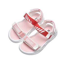 baby boy beach sandals NZ - Summer baby sandals for girls boys kids beach sandals open toe soft bottom Leather Casual Sandal sport style SM091