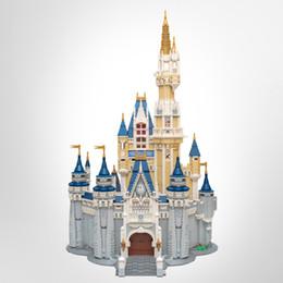 В наличии 16008 Творца фильма Принцесса Castle Castle 4080pcs Street View Модель Здание Наборы 71040 Блоки Кирпичи Образование Игрушки на Распродаже