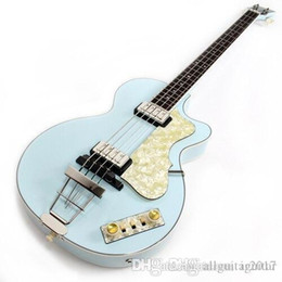 "hofner violin guitar NZ - 125th Anniversary 1950 Hofner Contemporary HCT 500 2 Violin Club Bass Light Green Electric Guitar 30"" short scale, White Pearl Pickguard"