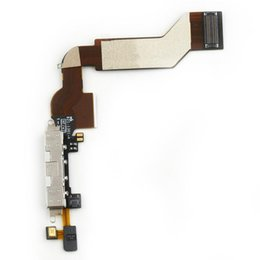 high quality charge cable iphone NZ - lex cable Replacement Charging Port Connector Flex Cable For iPhone 4S white High Quality