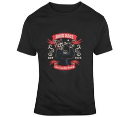 motorcycle racing t shirts UK - Road Race Live Fast Die Young Cars Motorcycle Vehicles Fast And Furious T-Shirt