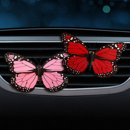 Car Perfume Clip Butterfly Fragrance Air Vent Freshener Auto Interior Outlet Decoration Accessory Trim Diffuser Adornment Gift dTn3#