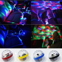 crystal magic ball disco UK - USB Mini Disco Stage Lights Led Xmas Party DJ Karaoke Car Decor Lamp Cellphone Music Control Crystal Magic Ball Colorful Light