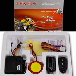 Wholesale Two Way 2 Universal Motorcycle Alarm System Anti-Theft Protection Engine start Motorbike Scooter Security Remote Control Siren RnNJ#
